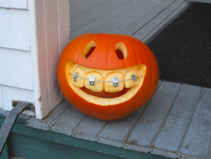 Braces on a pumpkin